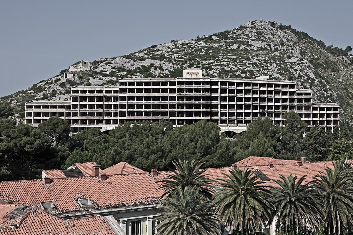 no vacancy #7, croatia, 2011 (military owned hotels during communist days. destroyed in the balkan war and never reopened)