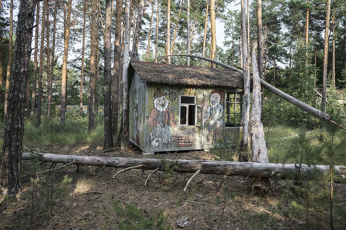 it was a pleasure #92, ukraine, 2017 (summer camp with 80 wooden houses near pripyat abandoned after the chernobyl desaster)