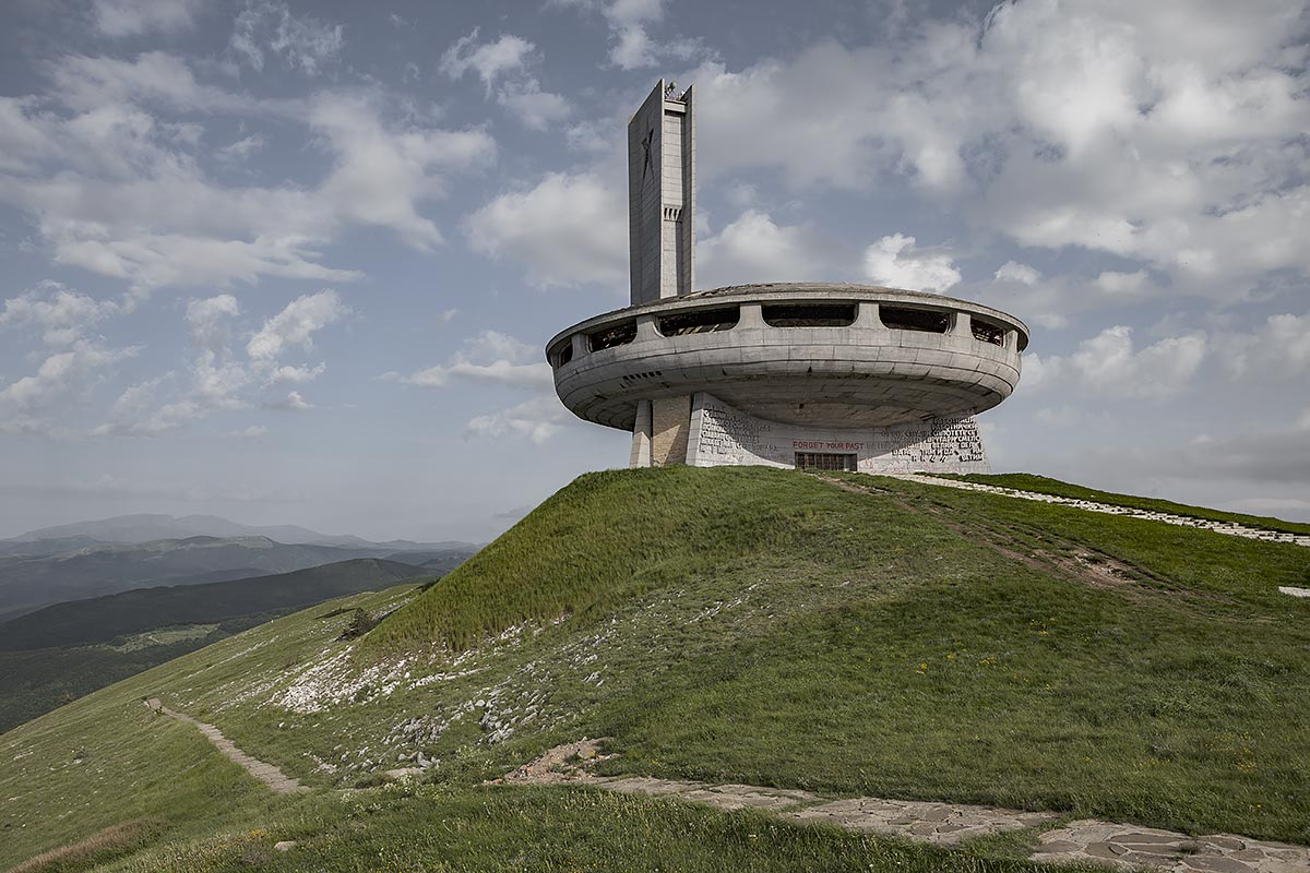 forget your past, break free #21, bulgaria, 2011 (buzludzha, monument of communist party on 1432m. its the place where the communist first gathered secretly to form a movement in 1891)