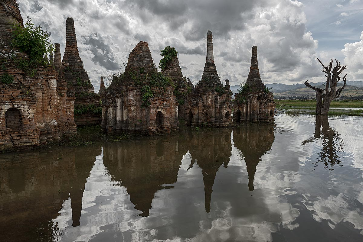 power of enlightment, faithless #14, burma, 2012 (flooded temple in burma's first hydroelectric project)