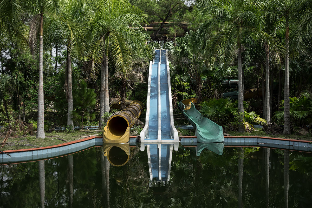 it was a pleasure #72, vietnam, 2016 (the waterpark in hue open half finished in 2004 but never got going as the rides where too far apart. 3 crocs were abandoned in a pond when it closed)